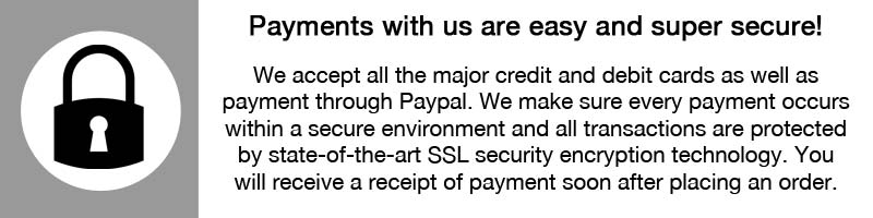 Payments made with us are safe and secure
