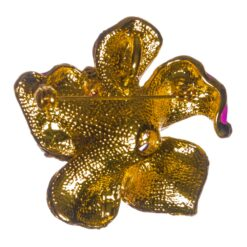 Back View of Gold Flower Shape Brooch
