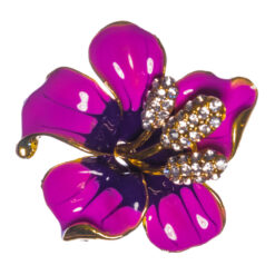 Purple Flower Shape of Brooch with Stone
