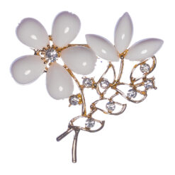 Flower Bouquet Brooch with Stone