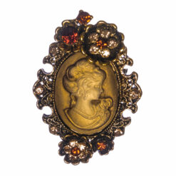 Gold Brooch with Etching Female