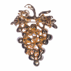 Back View of Grapes Shape Brooch with Pearl