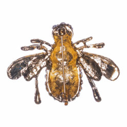 Back View of Bee Shape Gold Brooch with Stone