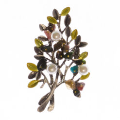 Tree Shape of Brooch with Pearl