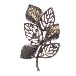 Back View of Leaf and Flowers Shape Brooch