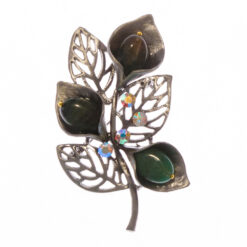 Flower and Leaf of Brooch with Stone