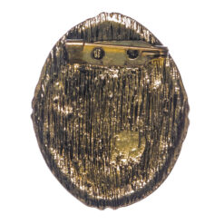 Back View Gold Brooch with Etching Female