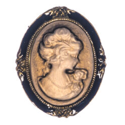 Brooch with Female Etching Design