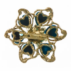 Back View of Flower Shape of Gold Brooch