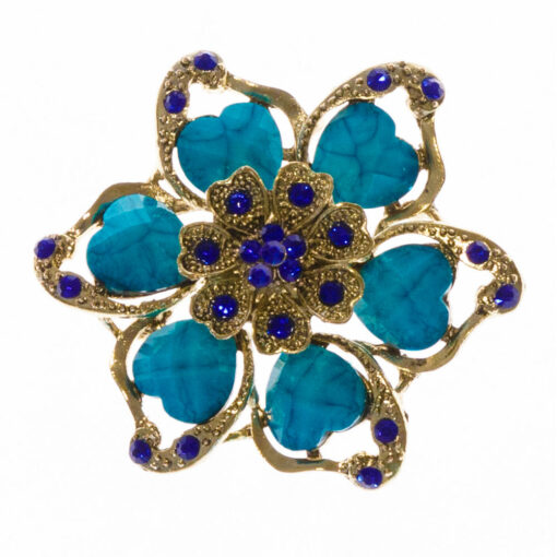 Cora-Blue-Stone-Brooch-BHB88-Front