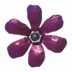 Ebony Purple Flower Shape of Brooch