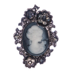 Silver Brooch with Female Etching