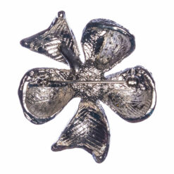 Back View of Silver Flower Shape Brooch