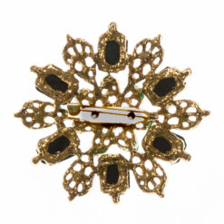 Back View of Brooch with Green Stone