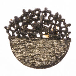 Back View of Flower Basket Shape of Brooch with Stone