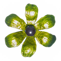 Green Flower Shape of Brooch with Pearl