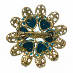 Back View of Brooch with Blue Stone
