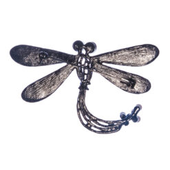 Back View of Dragonfly Shape of Silver Brooch