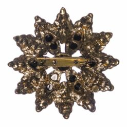 Back View of Flower Shape of Brooch