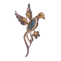 Back View of Bird Shape of Brooch with Stone