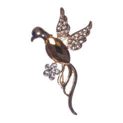 Bird Shape of Brooch with Stone