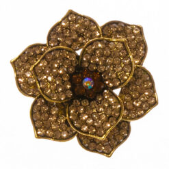 Flower of Golden Brooch with Stone