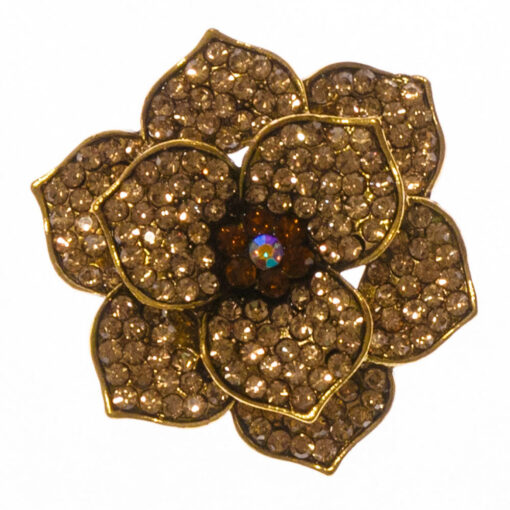 Ivy-Gold-Flower-brooch-BHB113-Front