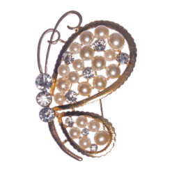 Butterfly Shape of Brooch with Pearl