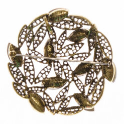 Back View of Gold Brooch with Stone