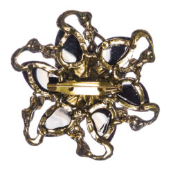 Back View of Gold Flower Brooch