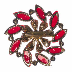 Back View of Pomegranate Brooch with Stone