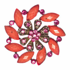 Pomegranate Brooch with Stone