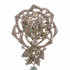 Bronze Brooch Flower Shape with Stone