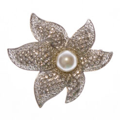 Flower Bouquet Shape Brooch with Pearl