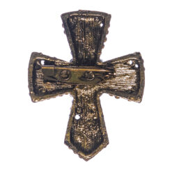 Back View of Cross Shape Brooch