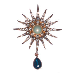Star Shape Brooch with Pearl Stone