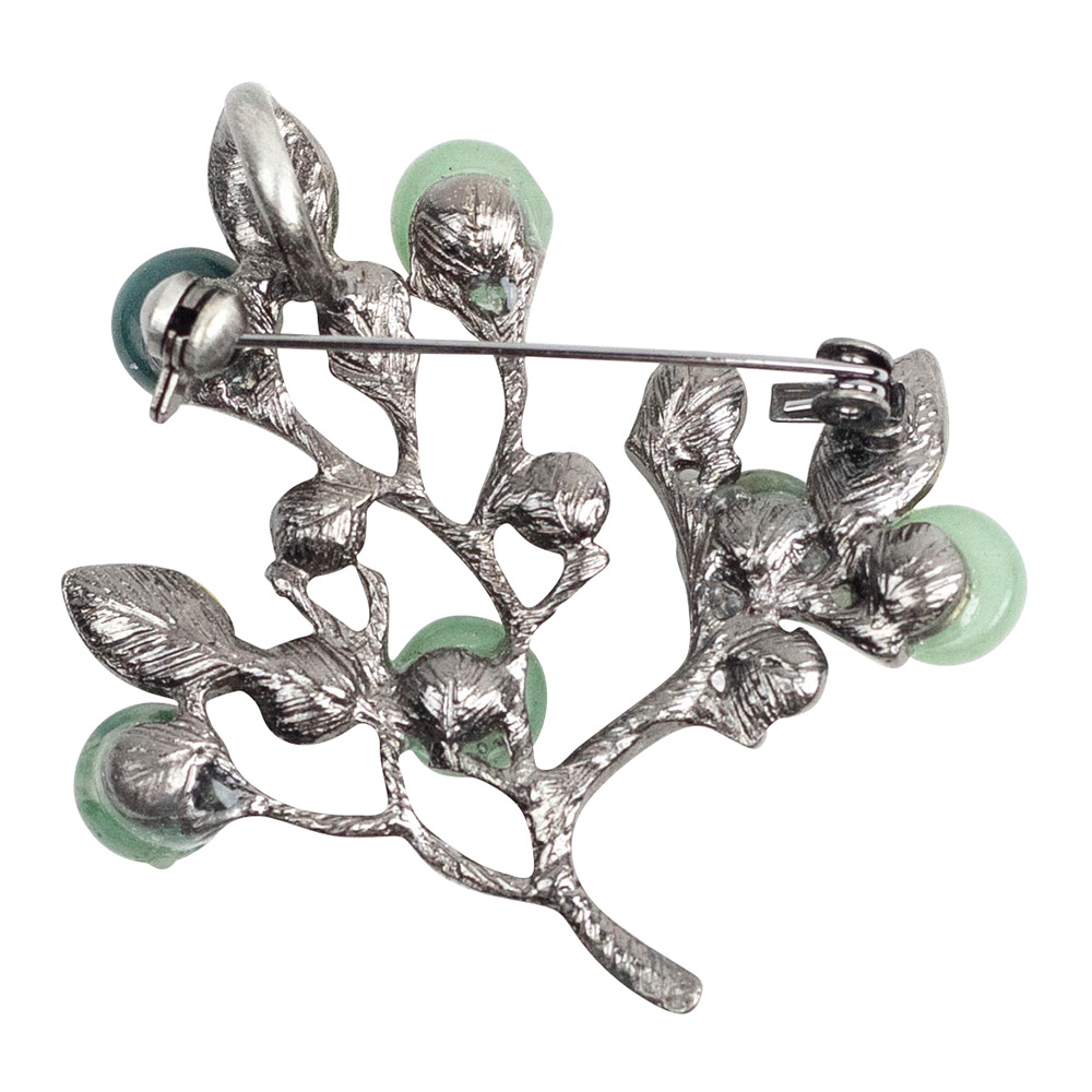 page wilson tree product qvc uk butler brooch crystal festive