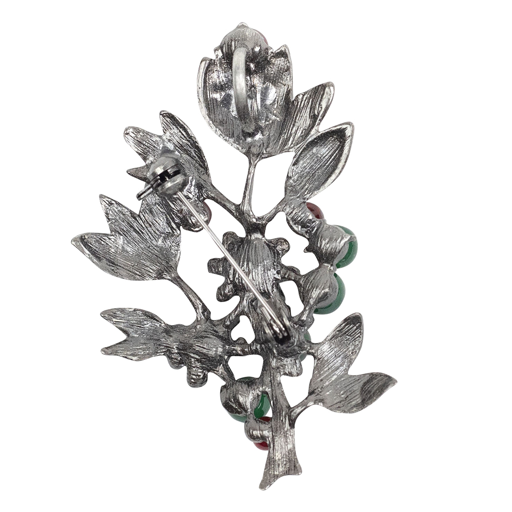 Abrielle Natural Stone Leaf Brooch