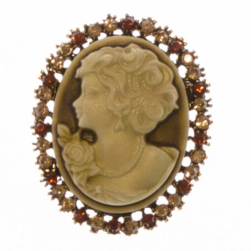 Adelaide Gold Cameo Brooch
