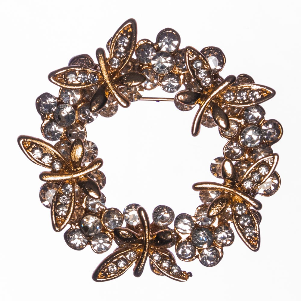 Laurice Butterfly Wreath Brooch