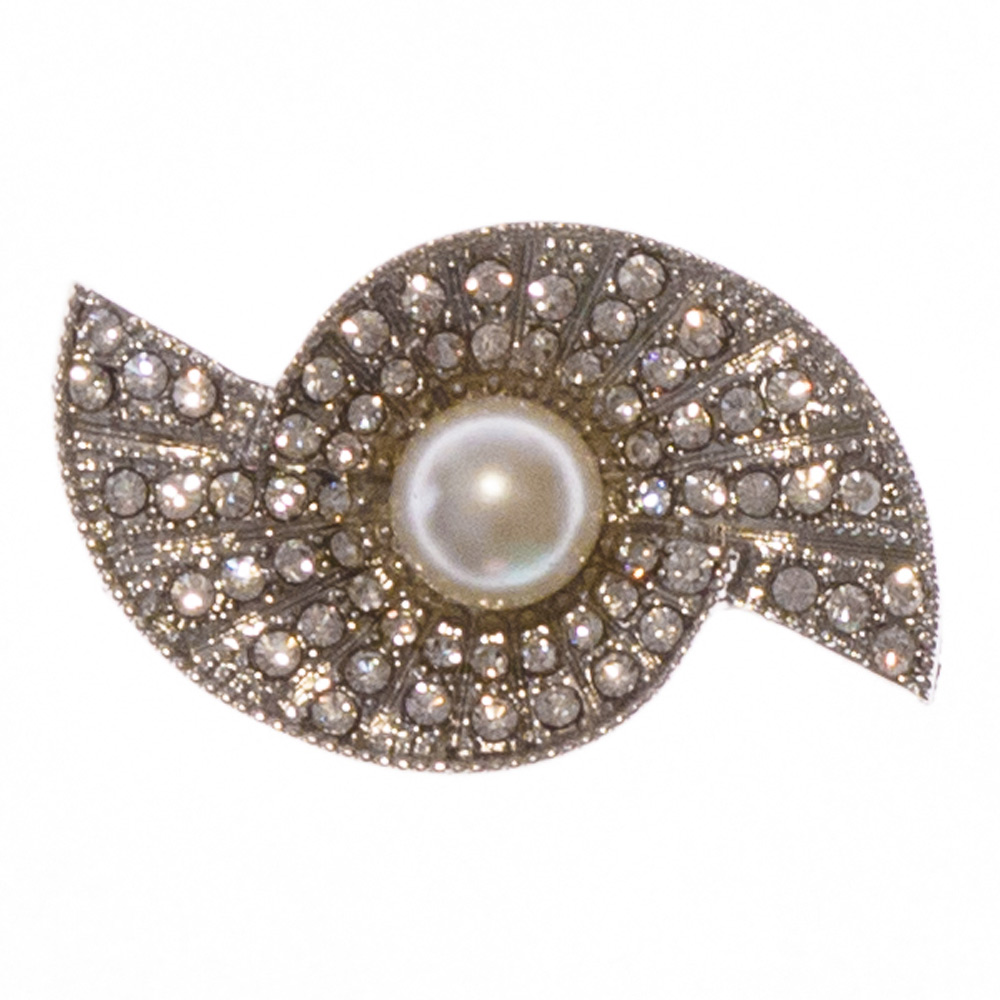 Adele Pearl and Crystals Wedding Brooch