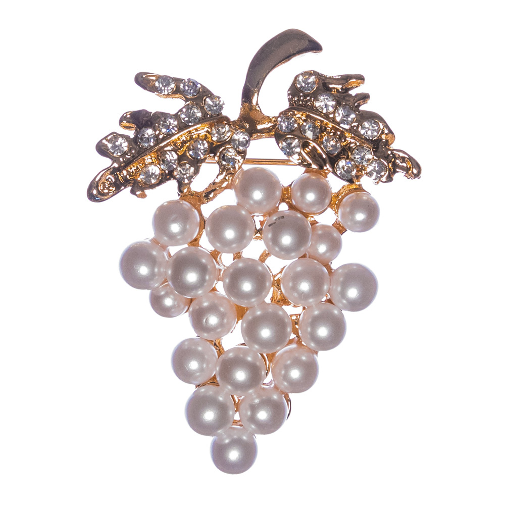 Barossa Grapes Pearl Brooch