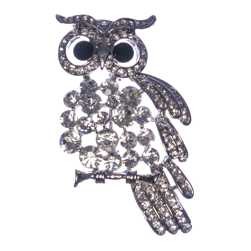 Beatrice Gold Owl Brooch