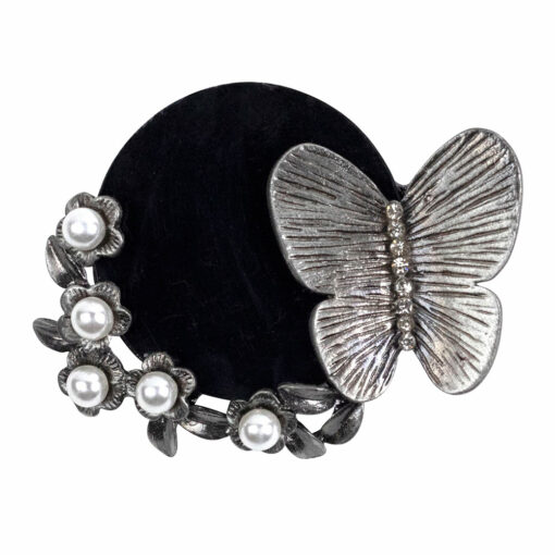 Finna Butterfly and Pearls Brooch