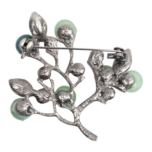 Camilla Natural Stone Tree Brooch