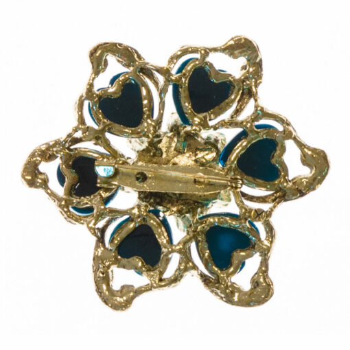 Cora Blue Stone Brooch