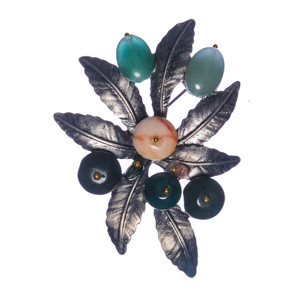 Cora Retro Flower Brooch