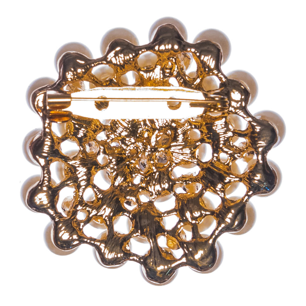 Diana Round Pearl Brooch