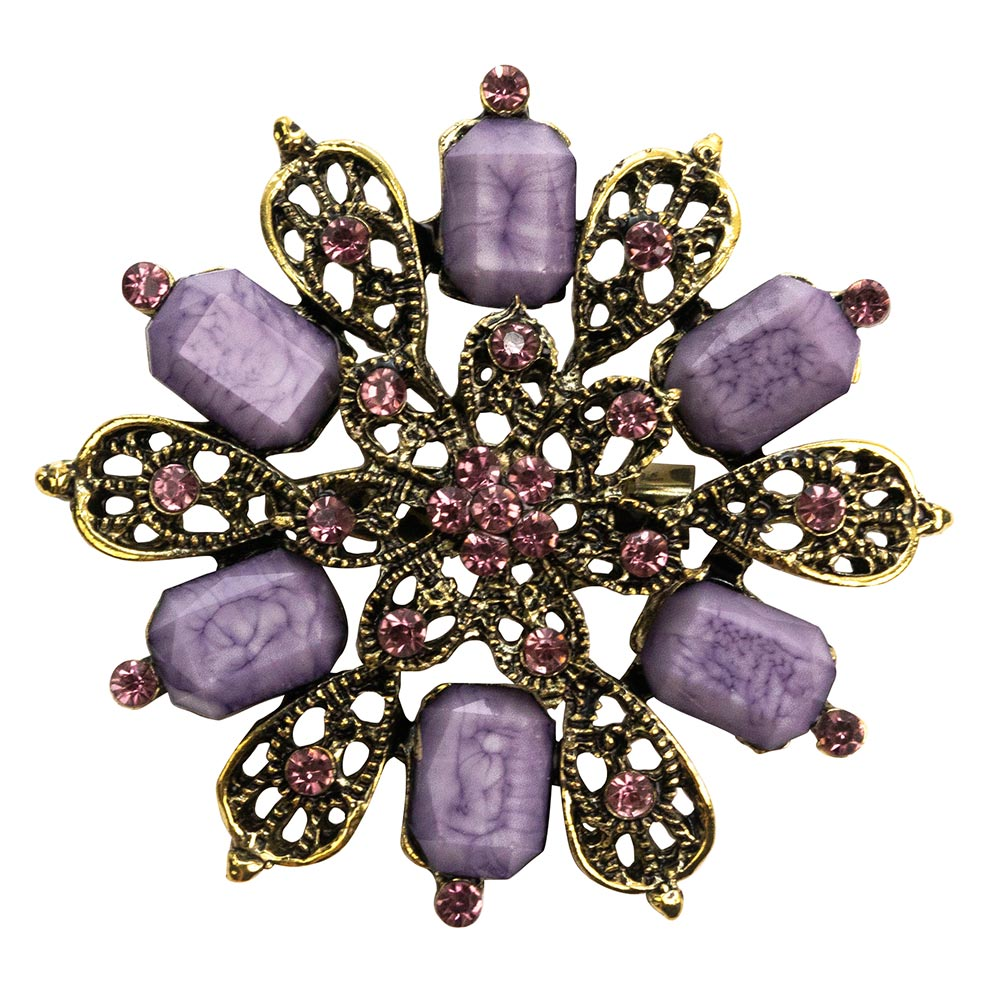 Eva Purple Stone Brooch