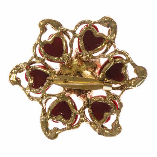 Gianna Hot Pink Stone Brooch